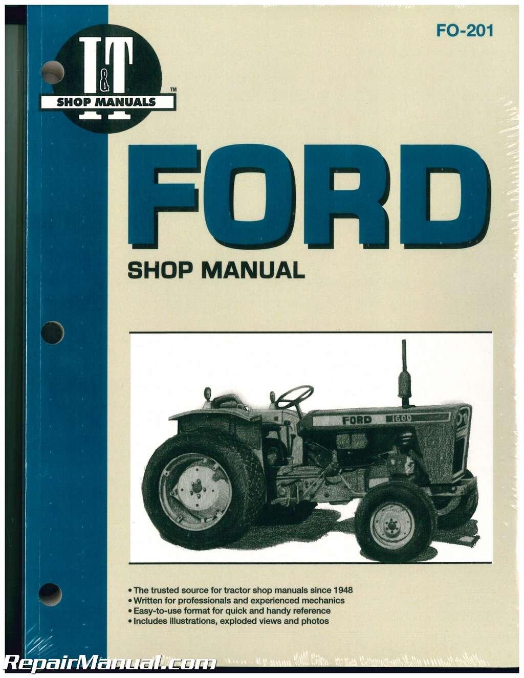 FO-201 Ford Fordson Tractor Repair Manual Dexta, Super Dexta, Major Diesel, Super Major Paperback – 2004