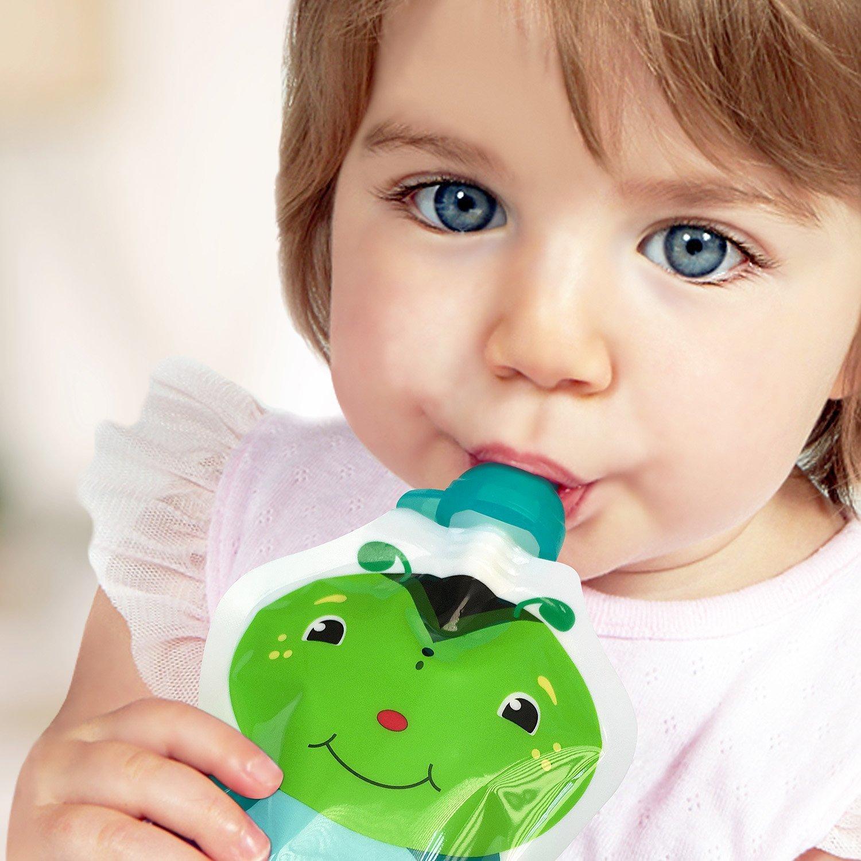 5 Unzen 4 Beutel ChooMee Wiederverwendbare Baby Lebensmittel Quetschbeutel