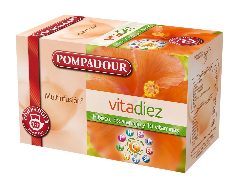 Pompadour Té Infusion Vitadiez - 20 bolsitas - [Pack de 2]: Amazon.es: Alimentación y bebidas