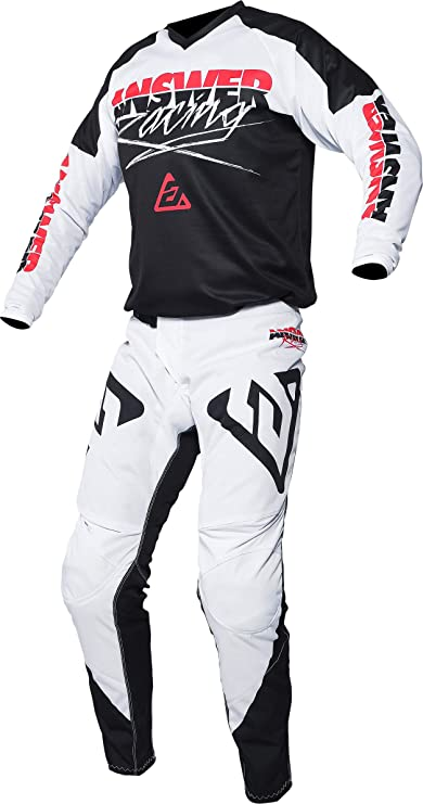 Answer A20 Syncron Voyd Youth MX Offroad Jersey Red//Reflex//White