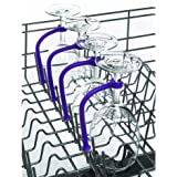 Wine Glass Dishwasher Holder - Flexible and Adjustable Attachment - Protect your Wine Glasses - Fits All Dishwashers by That is Lit