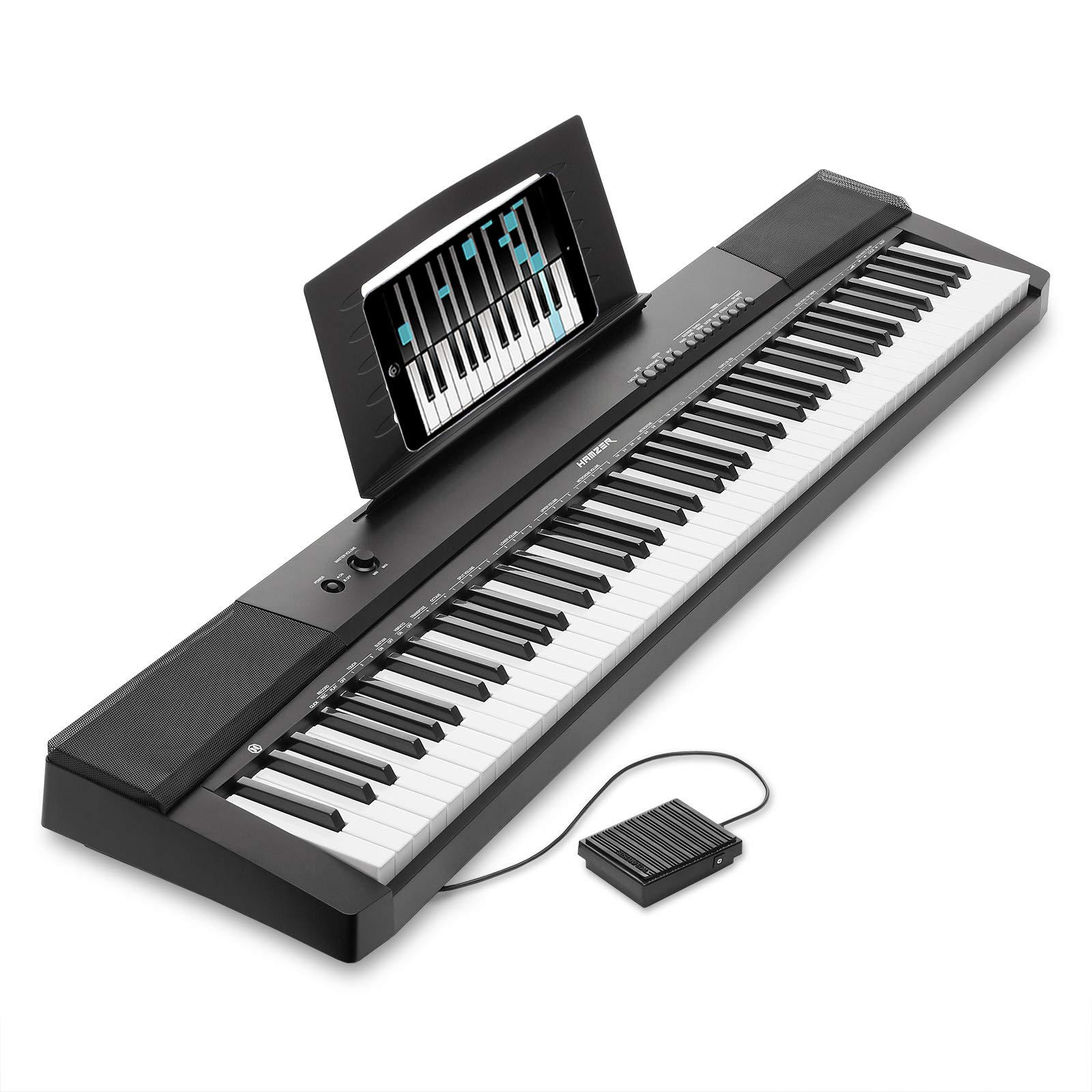 Hamzer 88-Key Electronic Keyboard Portable Digital Music Piano with Touch Sensitive Keys