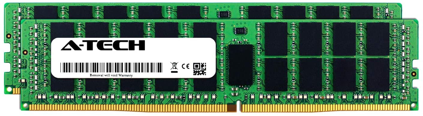 A-Tech 32GB Kit (2 x 16GB) for Dell PowerEdge R730 - DDR4 PC4-17000 2133Mhz ECC Registered RDIMM 2Rx4 - Server Memory Ram Equivalent to OEM A7945660 SNP1R8CRC/16G (AT316643SRV-X2R1)
