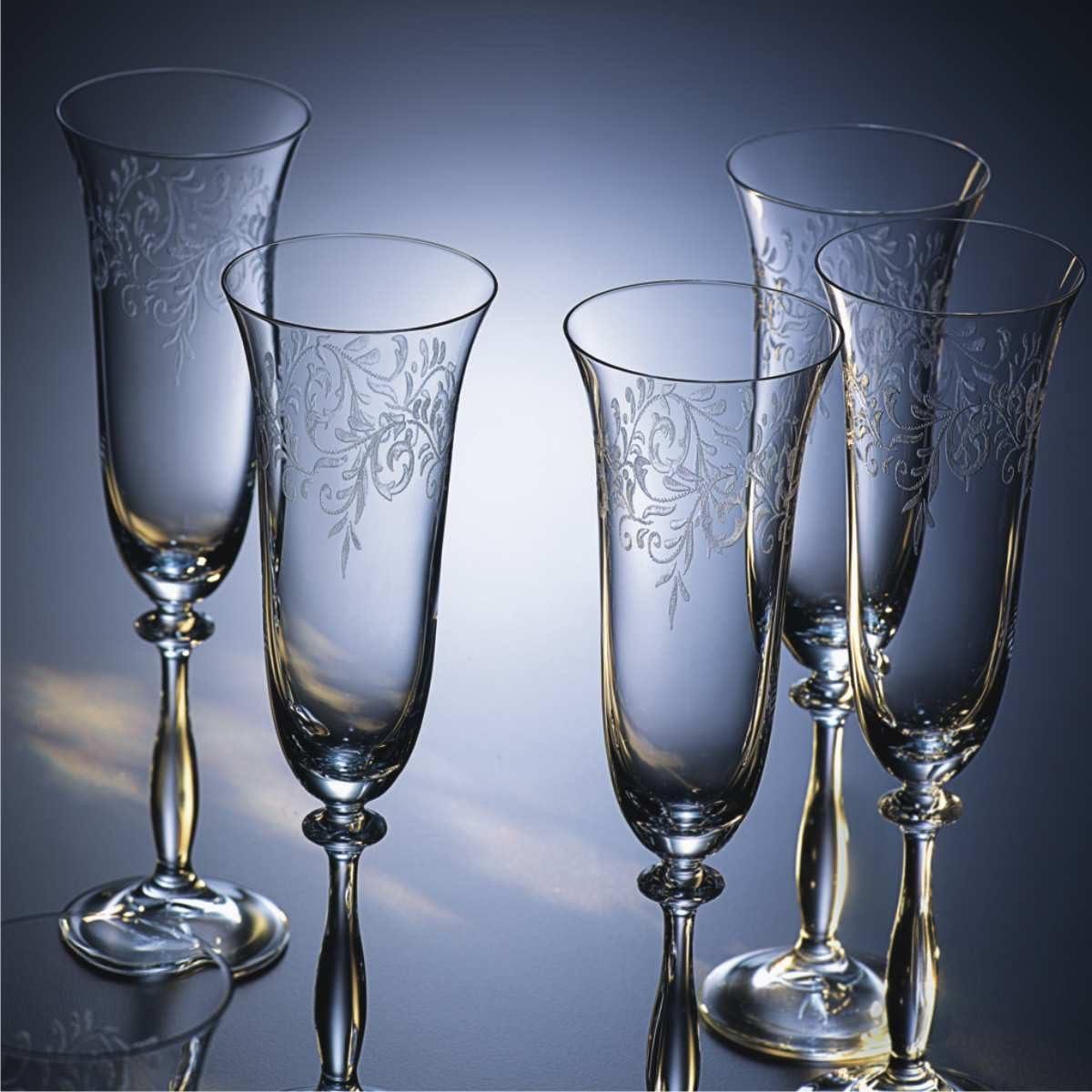 Verre /à vin 250 ml 6 pi/èces Bohemia Cristal 093//006//013 Romance
