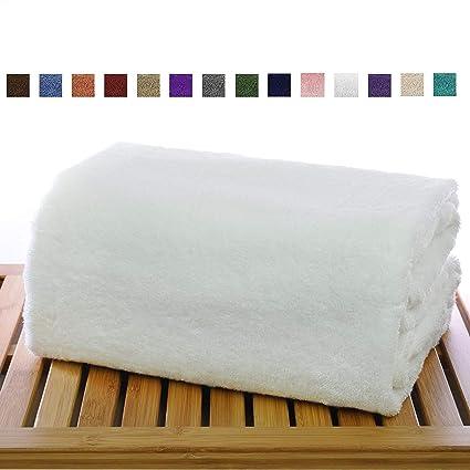 AaKouton 900 GSM Egyptian Cotton Bath Towels 35 x 70 inches - Luxury White