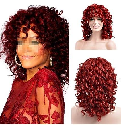 YOURWIGS Fluffy Kinky Short Curly Hair Wigs