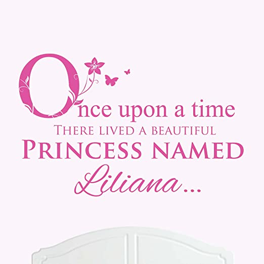 Once Upon a Time wall art sticker quote large nursery decor decal
