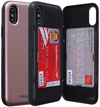 Amazon.com: Funda para iPhone X con soporte para tarjetas ...