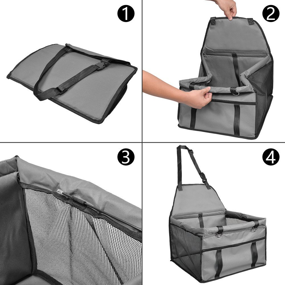 Blue Pet Car Booster Seat Carrier,Portable Foldable Pet Car Seat Cover Carrier with Seat Belt for Dog Cat Puppy Kitty up to 25lbs Sold by Karl Aiken