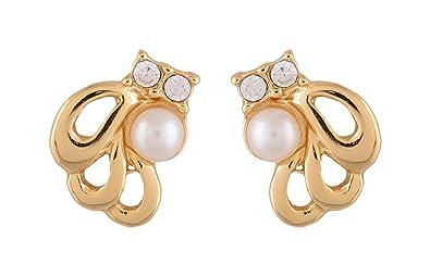 97d942b02cf Buy Estelle Gold Plated Pearl Stud Earring Jewellery set
