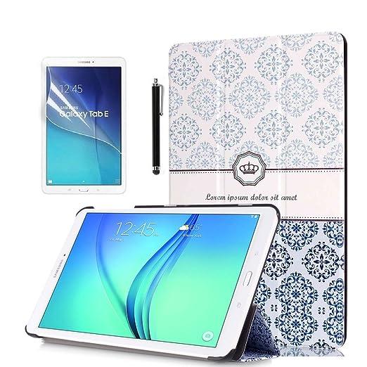 171 opinioni per Custodia Tab E 9.6'' Flip,PU Pelle Slim Smart Flip Case Cover per Samsung Galaxy
