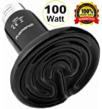Ceramic Infrared Heat Emitter Lamp | Reptile Brooder Chicken Coop Outdoor Pet Heater Bulb | 3 Power Variations 100W, 150W and 200W Lamps for 20,000+ Hours Power by Promondi