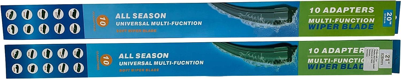 VORNE mit Adapter 750//750mm 2X TFS-Premium Flat Scheibenwischer