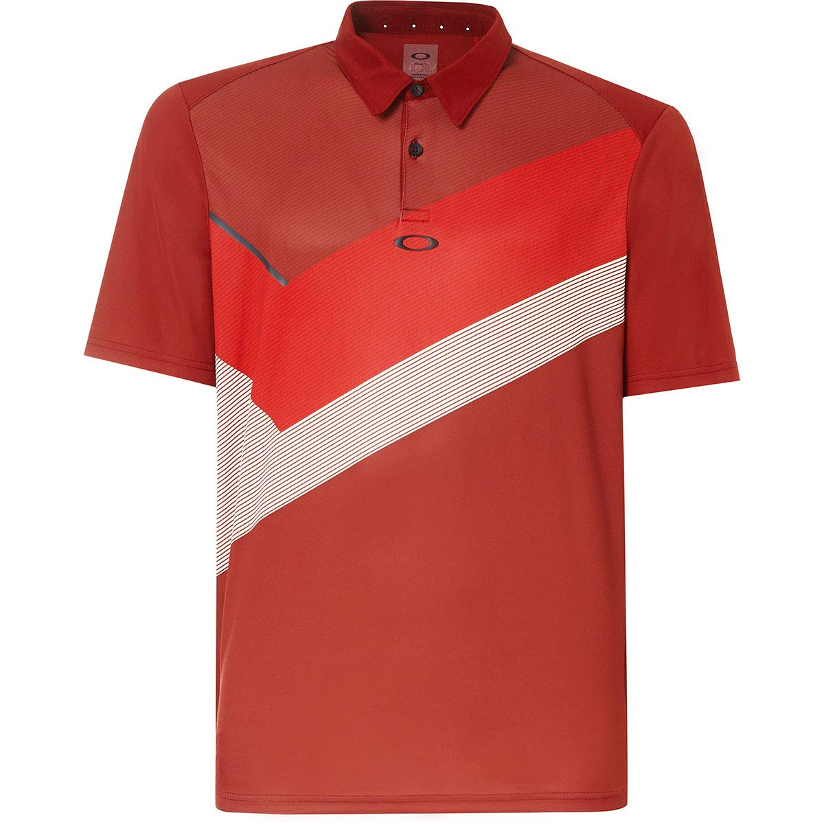 Oakley Mens Polo Shirt Ss Placed Collar Block, Iron Red, XXL ...