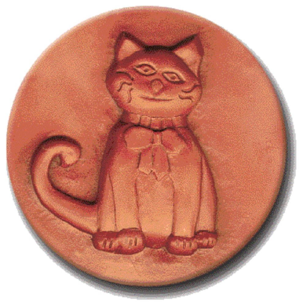 RYCRAFT 2'' Round Cookie Stamp with Handle & Recipe Booklet-CAT With a BOW