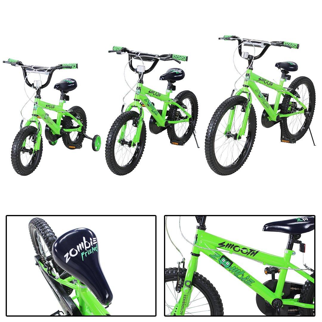 Actionbikes Kinderfahrrad Zombie ab 3-9 Jahren 12 16 20 Zoll Grün Kinder Mädchen Jungen Fahrrad