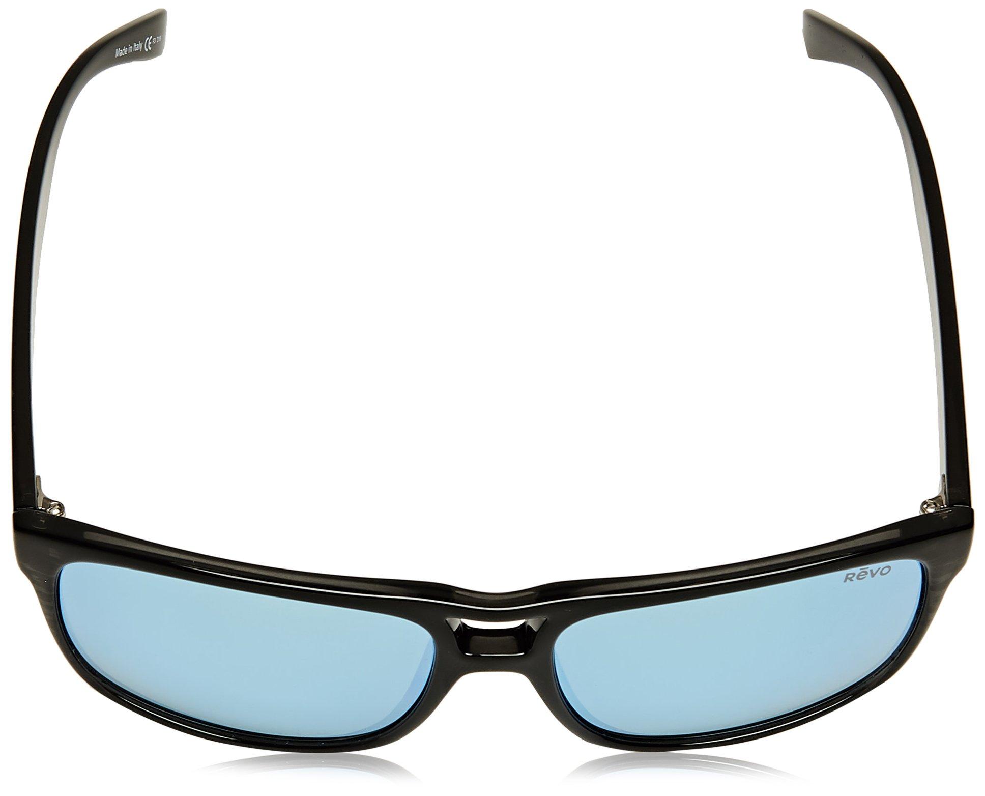 Revo Holsby Style and Performance Polarized Sunglasses, RE1019, Black Woodgrain, 58 mm by Revo Sunglasses (Image #4)