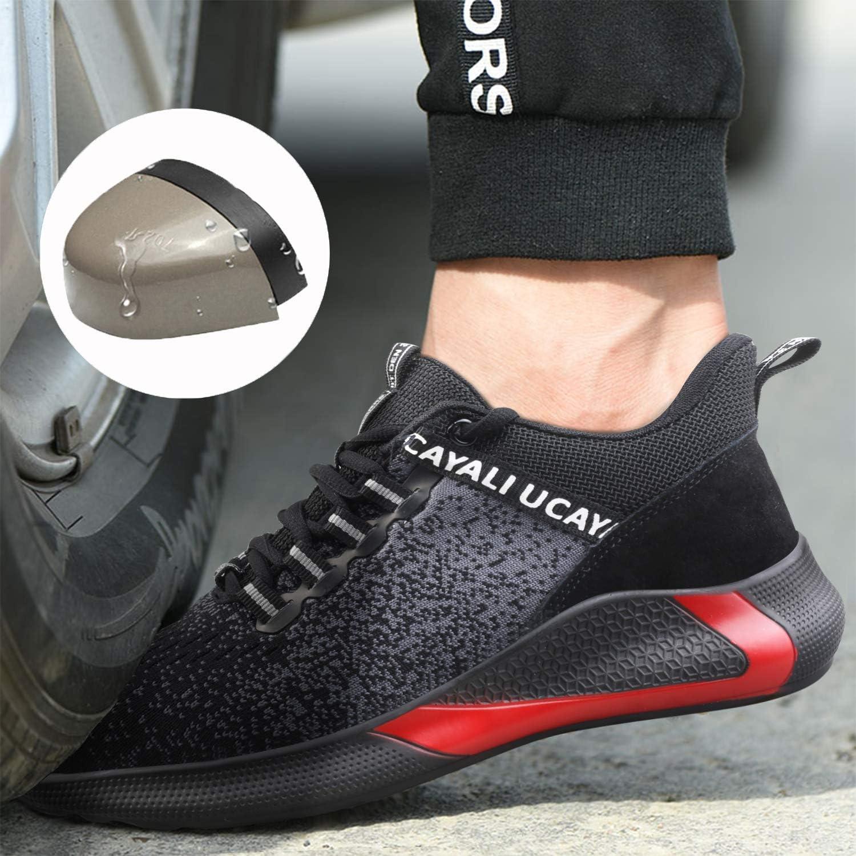 Ucayali Chaussures de Sécurité Hommes avec Embout Acier Protection, Légère & Respirante, 39-47 017 Noir