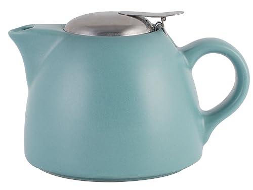 La Cafetière Barcelona 2-Cup Ceramic Infuser Teapot by Creative Tops, 450 ml (16 fl oz) – Retro Blue