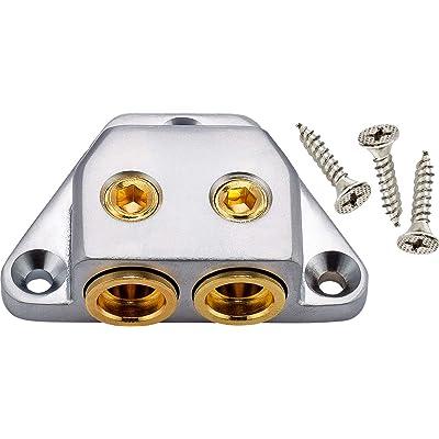InstallGear Ground Termination Block (Dual 1/0 or 4 Gauge Inputs): Car Electronics