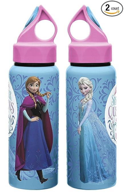 19fd179c9a Zak Designs Disney Frozen 17 oz. Aluminum Water Bottle, Anna & Elsa - 2