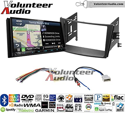 Volunteer Audio Kenwood Excelon DNX994S Double Din Radio Install Kit with GPS Navigation Apple CarPlay Android