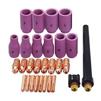 4 Stück Tig Spannhülsengehäuse 13n26 13n27 13n28 13n29 Fit Für Wig-schweißbrenner Wp9 Wp20 Wp25 Serie Werkzeuge
