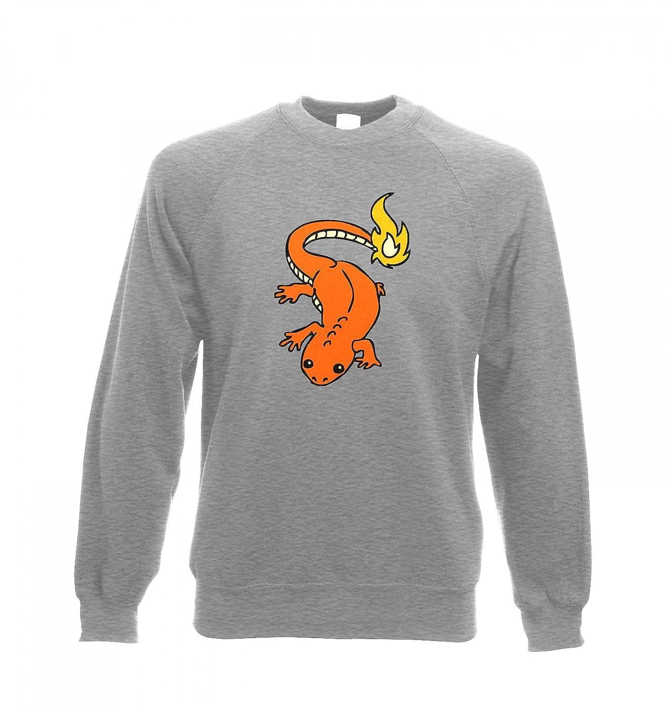 cb306d40 Real Life Charmander Adult Crewneck Sweatshirt - Inspired By Pokemon (Small  (40