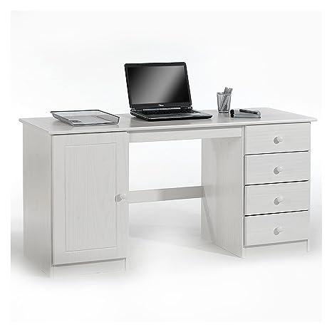 Kiefer massiv natur lackiert Schreibtisch Computertisch PC-Schreibtisch
