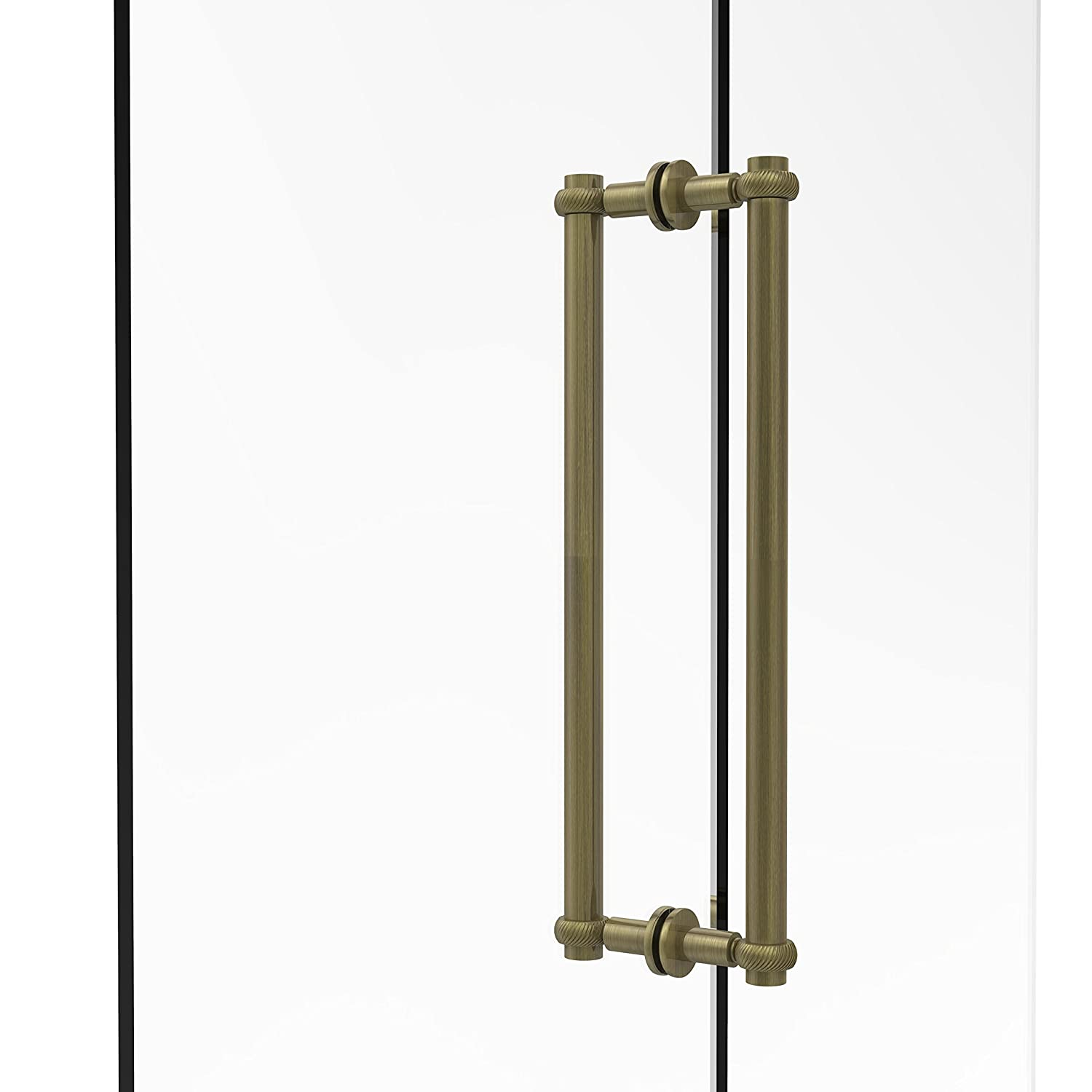 Antique Brass Allied Brass 404T-18BB-ABR Contemporary 18 Inch Back Shower Door Pull with Twisted Accent