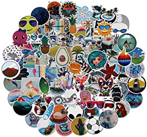 Nature Stickers for Water Bottle, 100-Pack, Waterproof Aesthetic Trendy Vinyl Stickers Decal for Laptop, Hydro Flask, Skateboard, Luggage