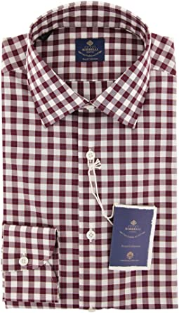 TuGui Mens Casual Hoodies Long Sleeve Button-Down Plaid Shirts