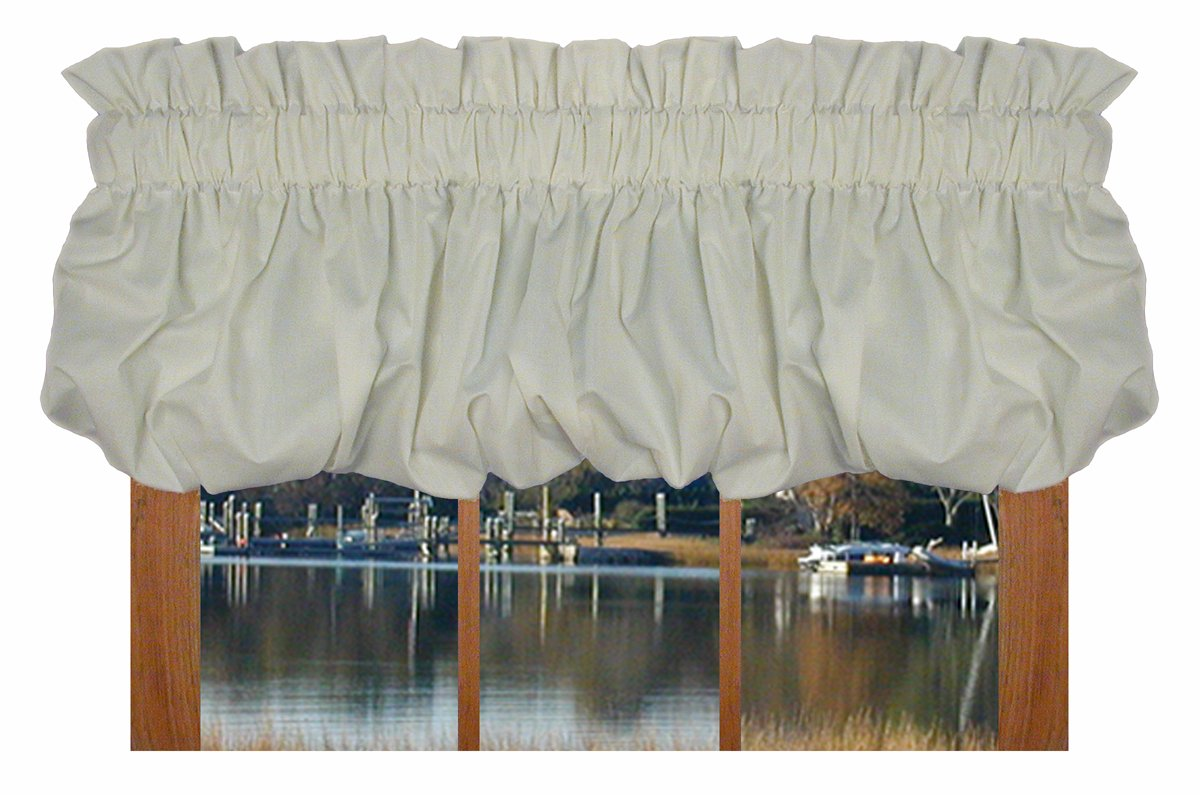 Amazon.com: Kerry Pouf Balloon Valance Curtain 80 Inch By 14 Inch   White:  Home U0026 Kitchen