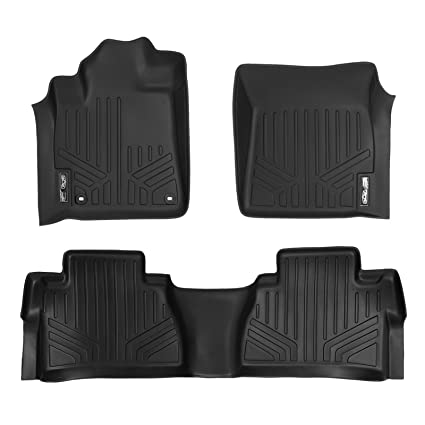max liner a0108 b0146 custom fit floor mats 2 row liner set black for 2014 2019 toyota tundra double crewmax cab