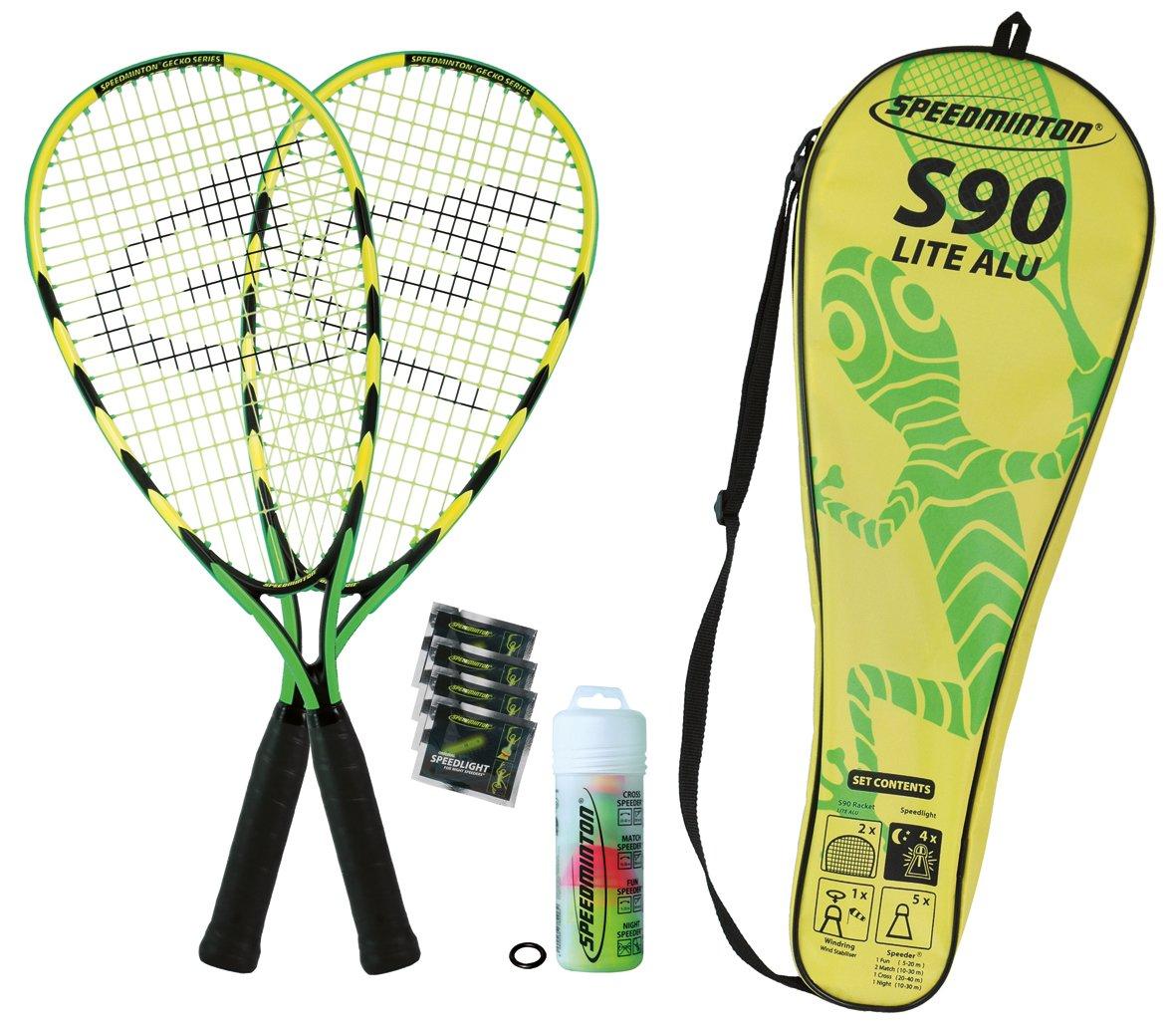 Speedminton Badmintonschläger Set S90 in Fulllcover, Keine Farbe 400077