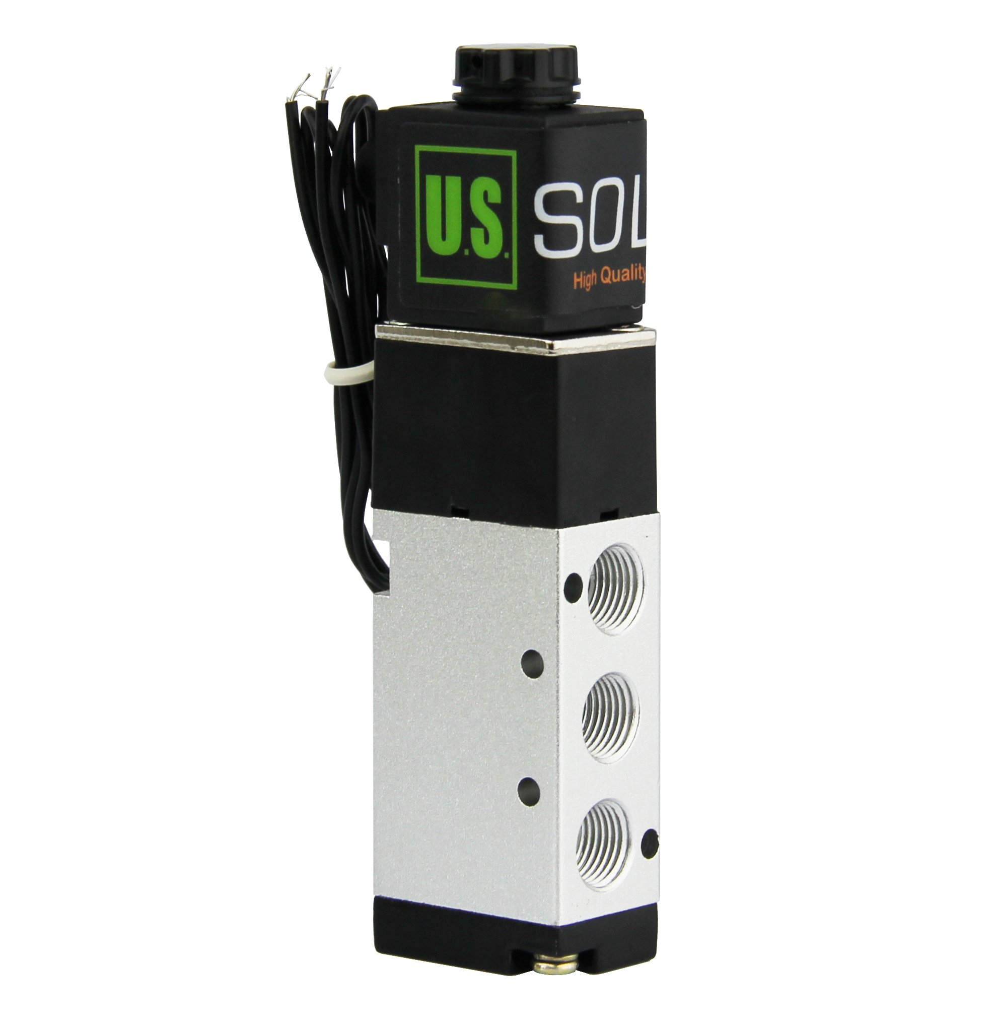 1/8'' NPT 5 Way 2 Position Pneumatic Electric Solenoid Valve DC 12 V from U.S. SOLID by U.S. Solid