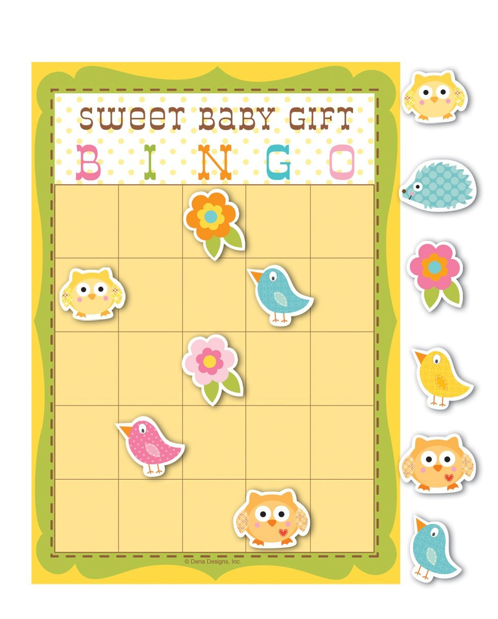 Happi Tree Owl Theme Baby Shower Party Bingo Game - For up to 10 people by Happi Tree Baby Shower