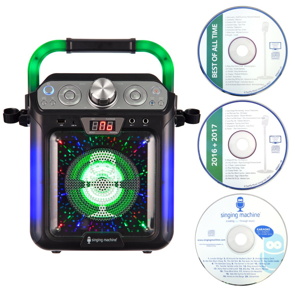 Singing Machine SML682BTBK Bluetooth Karaoke, Nero
