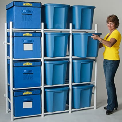 bin warehouse dfae2mbw 12tc compact storage system lidded home