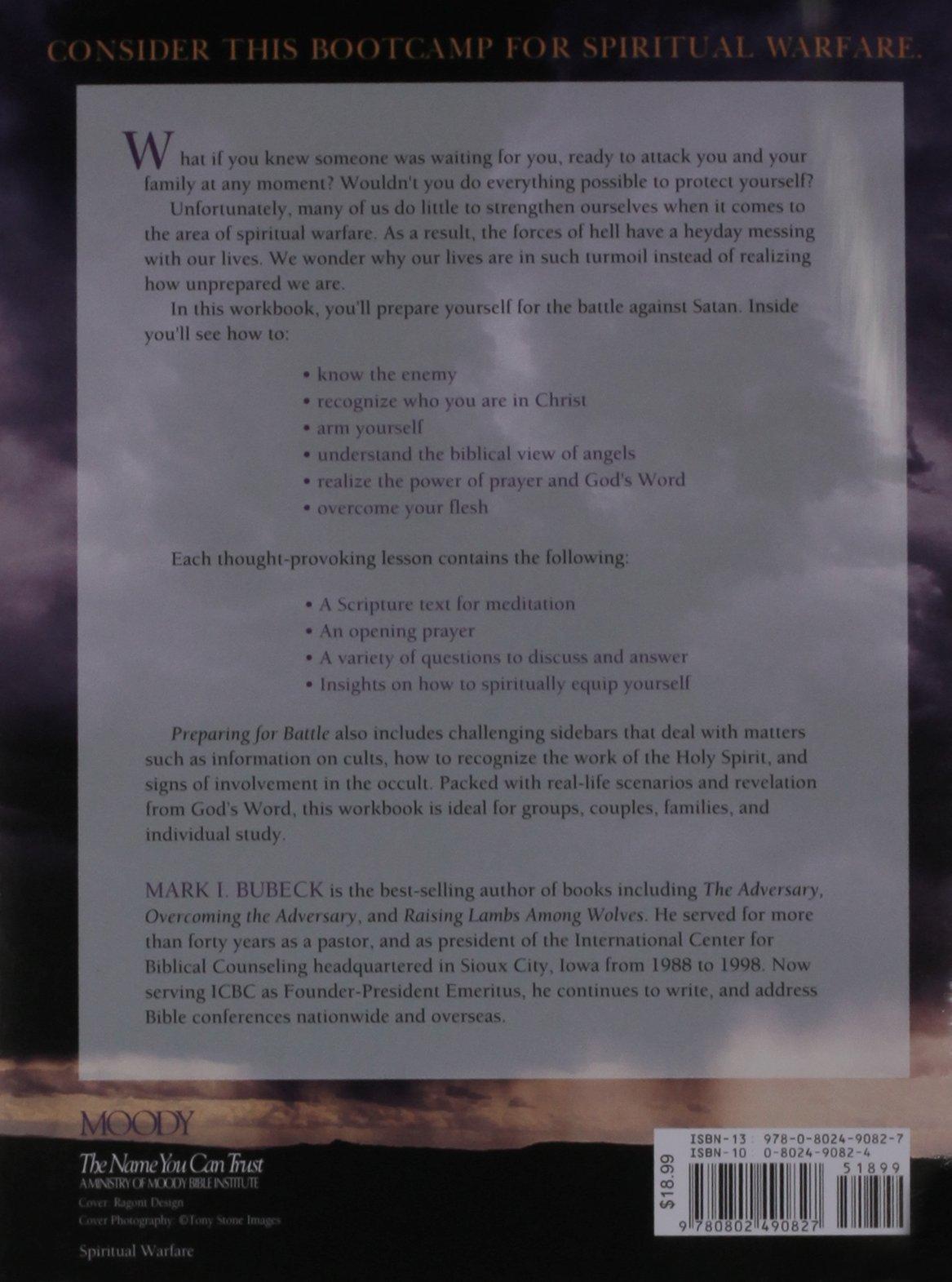 Workbooks prayer workbook : Preparing for Battle: A Spiritual Warfare Workbook: Mark I. Bubeck ...