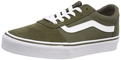 Vans Women's Ward Low Top Sneakers, Green ((SuedeCanvas) Olive Qz2), 7.5 UK 7.5 UK