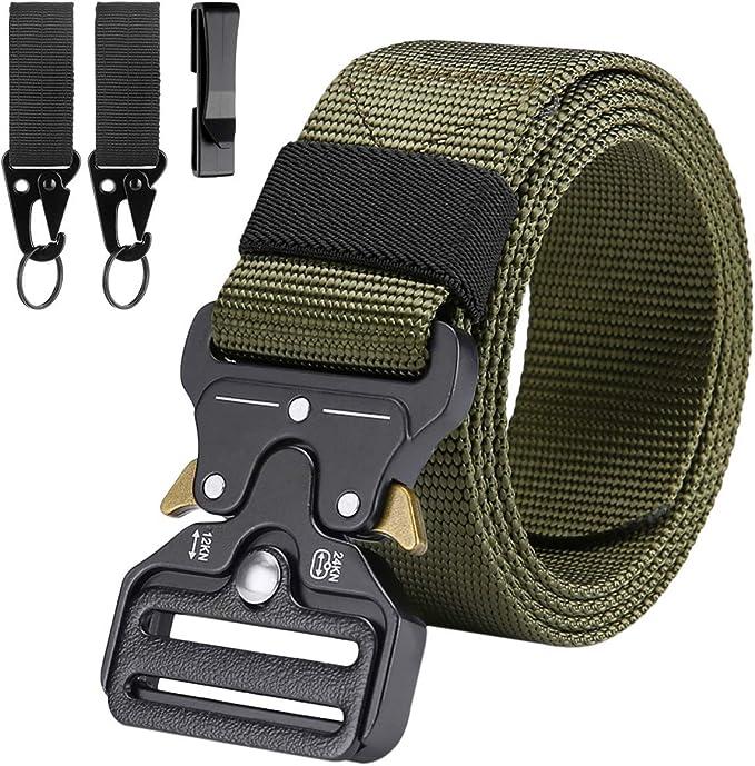 WOMEN MAN Gürtel Tactical Canvas Belt Schnellverschluss Military Shooter Gürtel