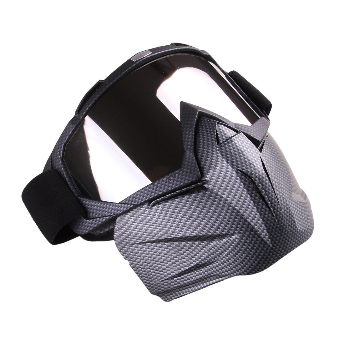 lommer desmontable Espejo Estilo protecci/ón m/áscara facial m/áscara t/áctica M/áscara Gafas para Nerf paintball y CS parte M/áscara Airsoft