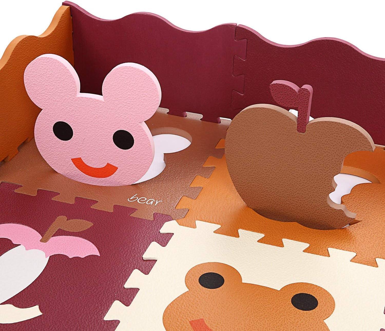 Kinder eco schadstofffrei Krabbelmatte 13mm Extra dick Baby Schaumstoffmatte Nicht giftig Kinderteppich mit Tragetasche YUEBO Baby Spielmatte 18 TLG Krabbeldecke+10 TLG Kanten