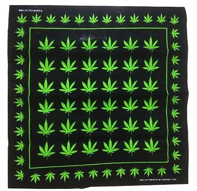 Amazon.com: Marihuana Cáñamo hoja Logo 420 Weed Bandana ...