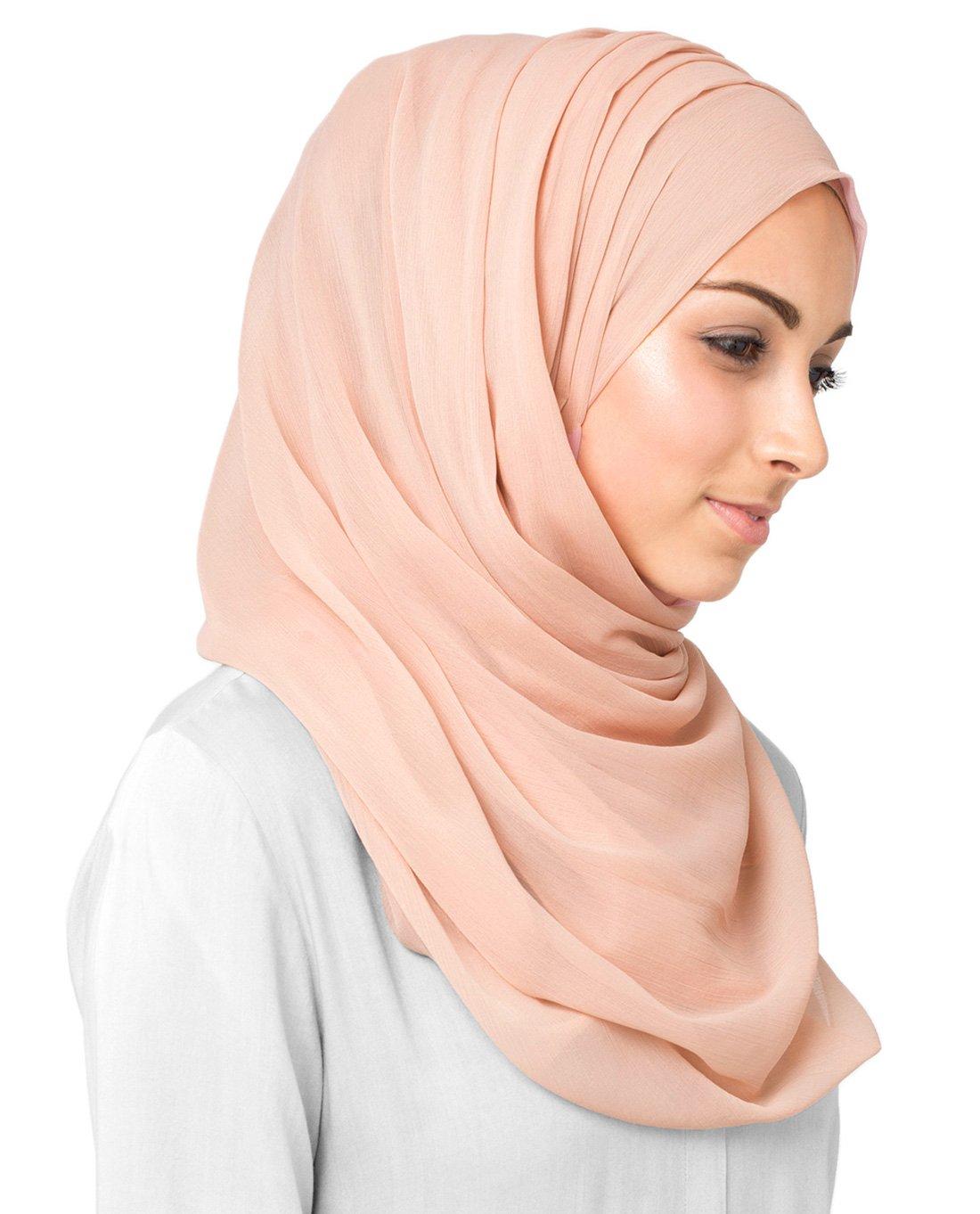 InEssence Scallop Shell Poly Chiffon Scarf Women Girls Wrap Large Size Hijab by InEssence