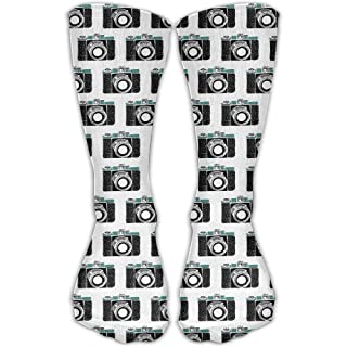Funny Caps Old Camera Men Women's Casual Athletic Stoking Crew Long Socks 19.68 in/50 cm