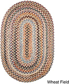 product image for Rhody Rug Augusta Oval Braided Wool Rug by (7' x 9') Wheat Field