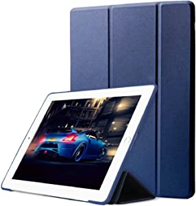 DuraSafe Cases for iPad Mini 3/2 / 1-7.9 Inch [ A1432 A1454 A1455 A1489 A1490 A1491 A1599 A1600 ] Smart Cover with Soft Silicone Back Auto Sleep/Wake : Soft Back - Navy Blue