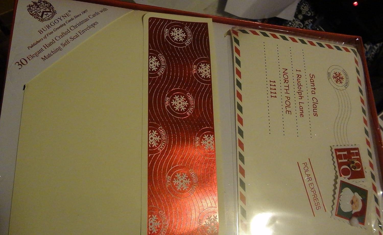 Amazon.com : Burgoyne 30 Elegant Hand Crafted Christmas Cards with ...